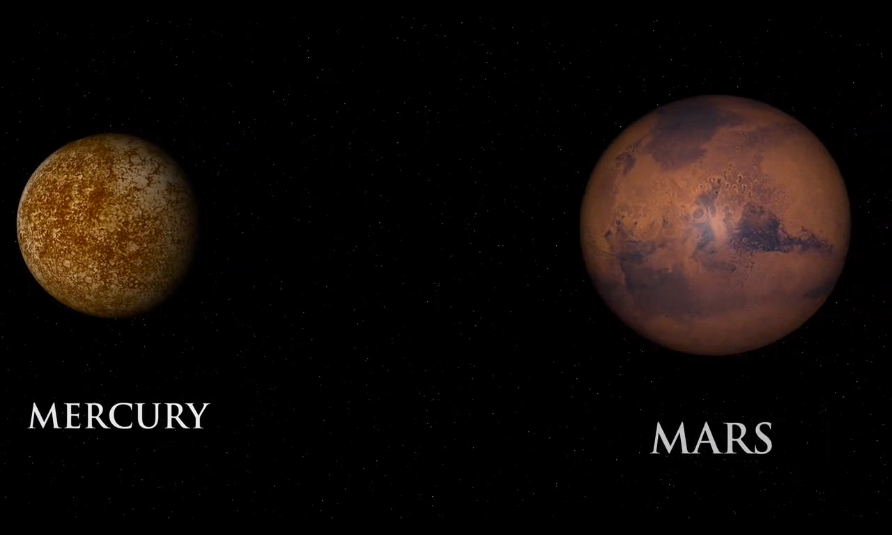 mars compared to mercury - HD1280×768
